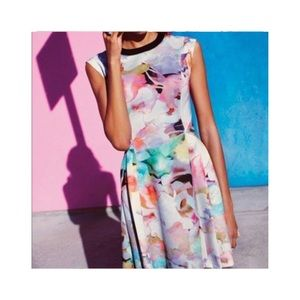 Ted baker London electric daydream floral dress